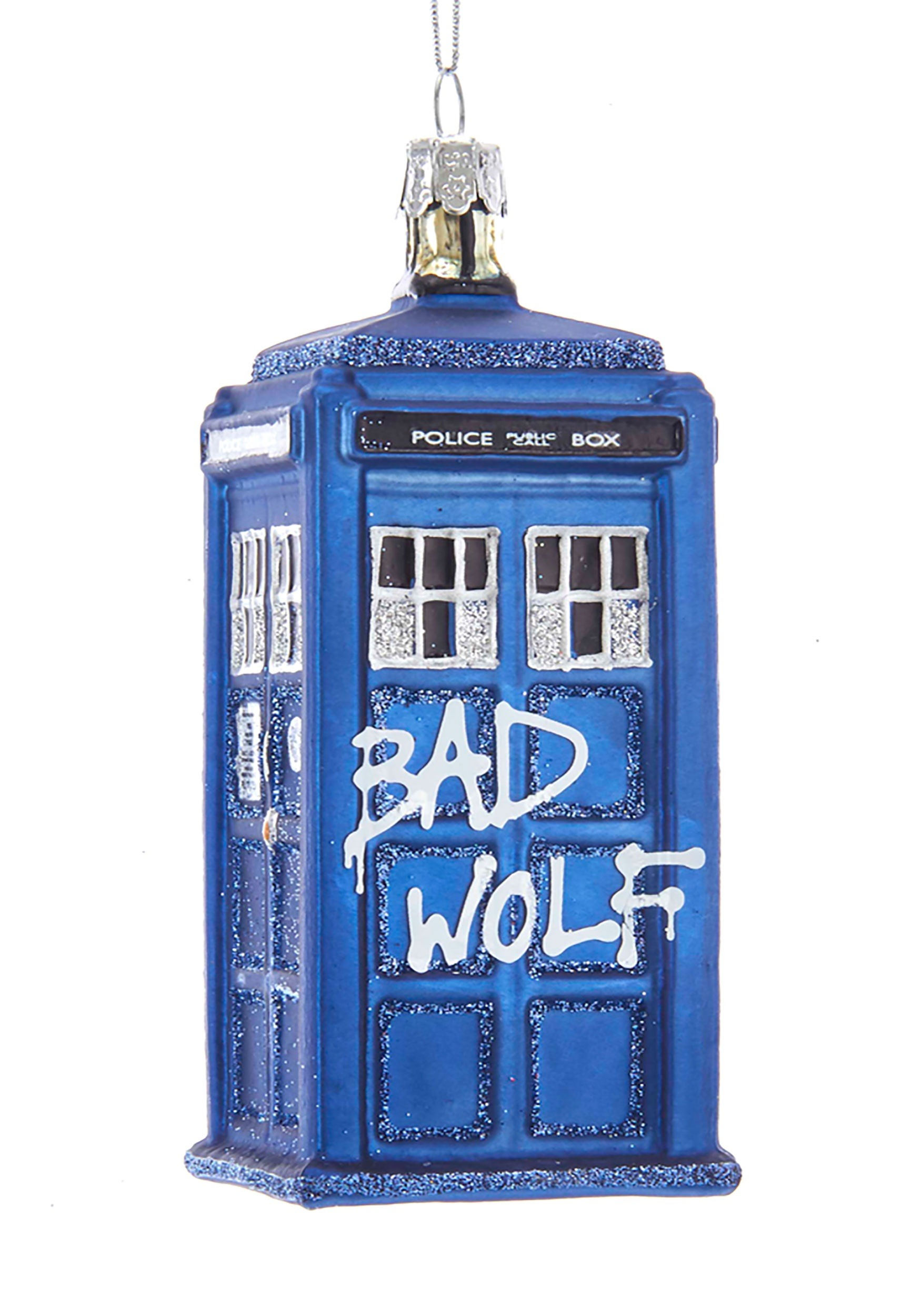 425 Doctor Who Bad Wolf Tardis Glass Ornament