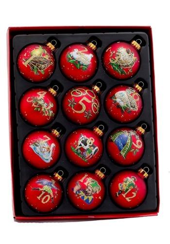 Twelve Days of Christmas Glass Ball Ornament 12 Piece Set
