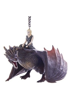 "5"" Game of Thrones Drogon & Daenerys Molded Ornament"