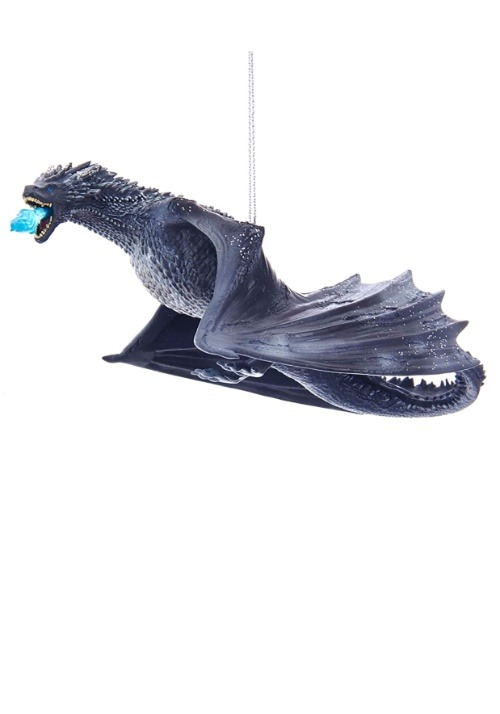 """7.5"""" Game of Thrones Ice Dragon Molded Ornament"""