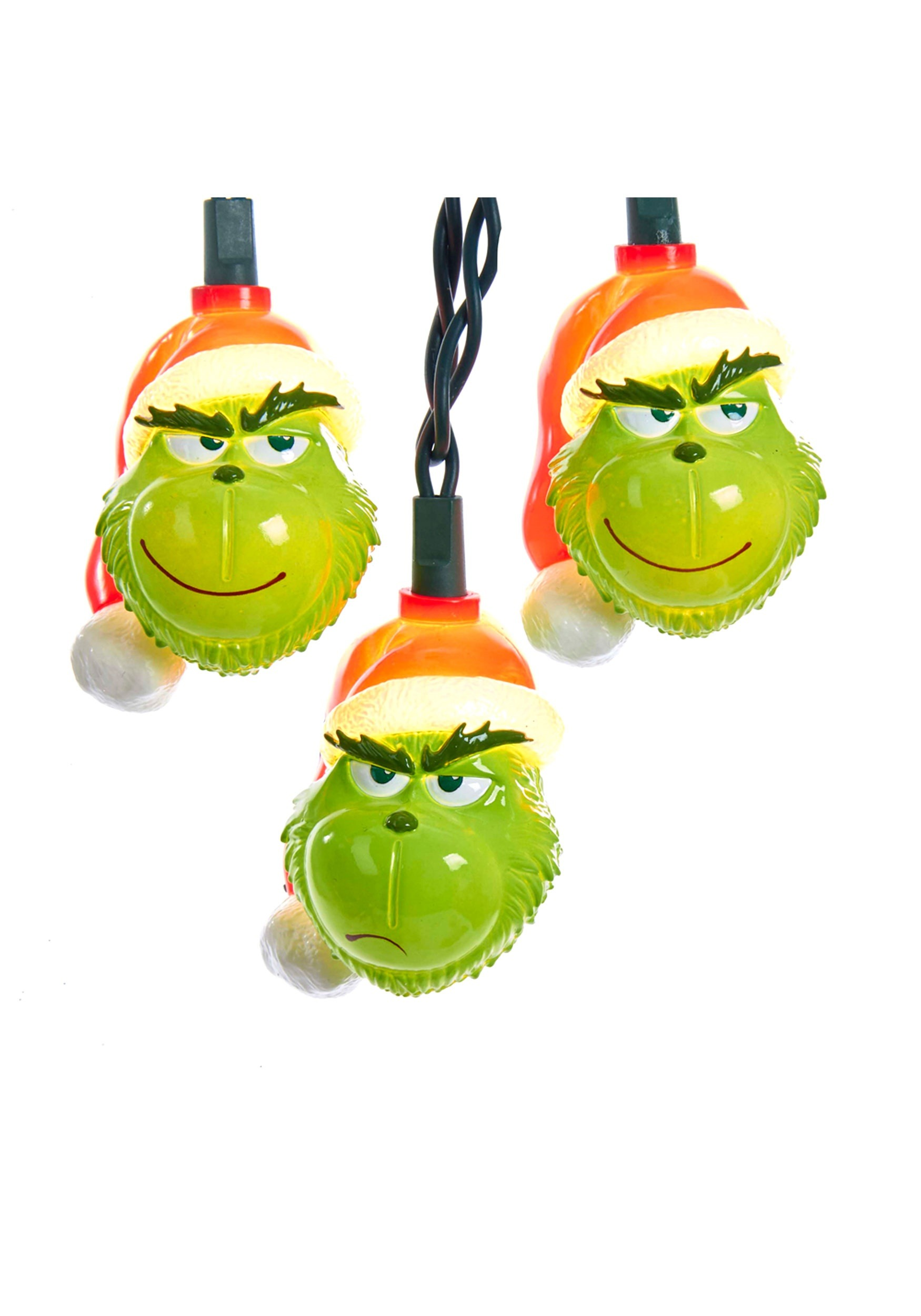 10 piece the grinch light set - Grinch Stole Christmas Lights