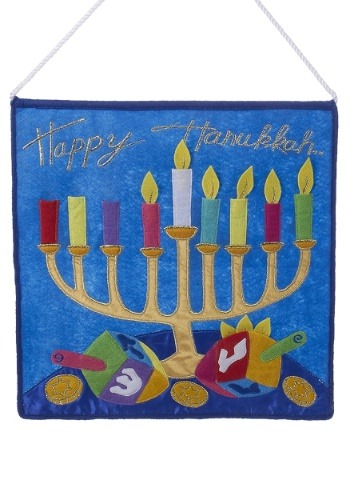 "14"" Felt Happy Hanukkah Wall Hanging"