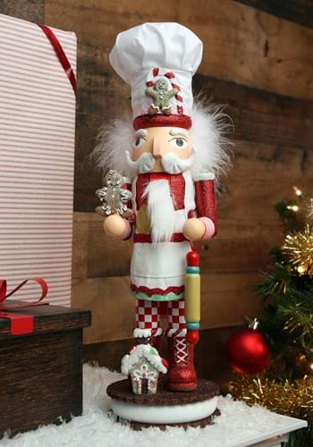 """15"""" Holly Wood Gingerbread Chef Nutcracker-update"""