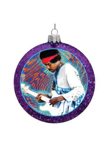 Jimi Hendrix Glass Disc Ornament