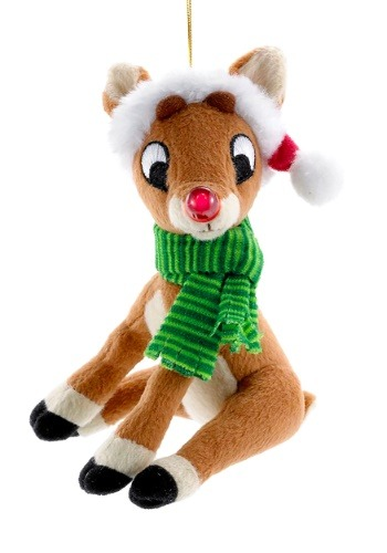 "5"" Rudolph Miniature Plush Ornament"
