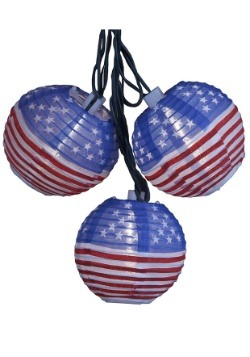 USA Flag Lantern Fourth of July Light Set