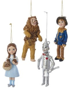 Wonderful Wizard of Oz 4pc Ornament Set1