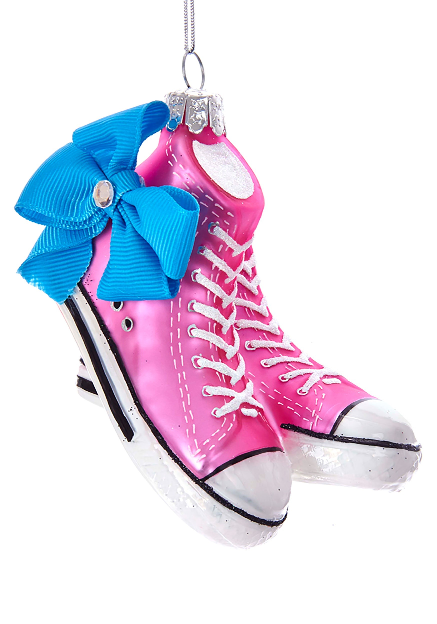 Jojo Siwa Sneakers W Bow Glass Ornament