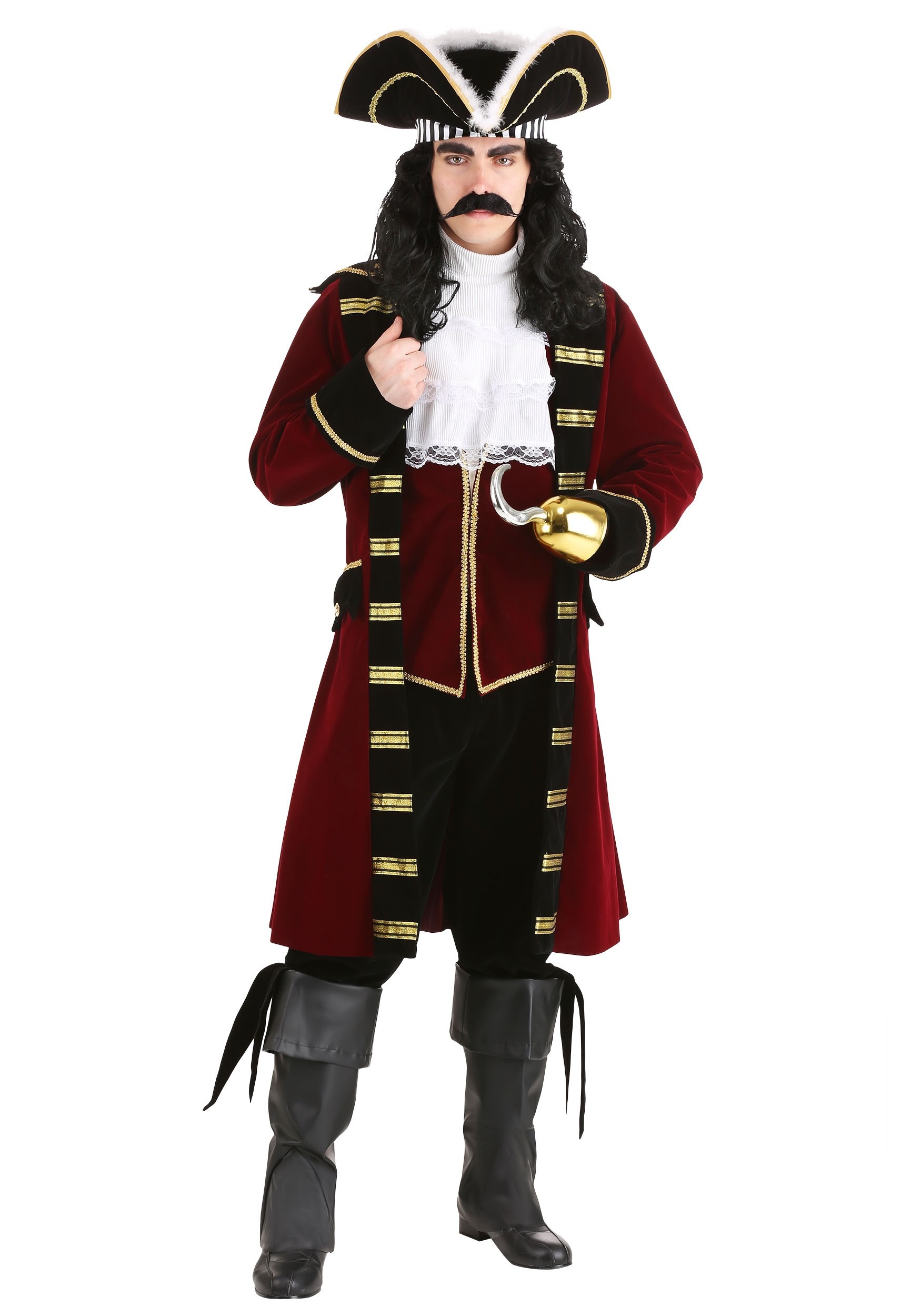 Mens Ultimate Captain Hook Costume Mens Pirate Costume Exclusive