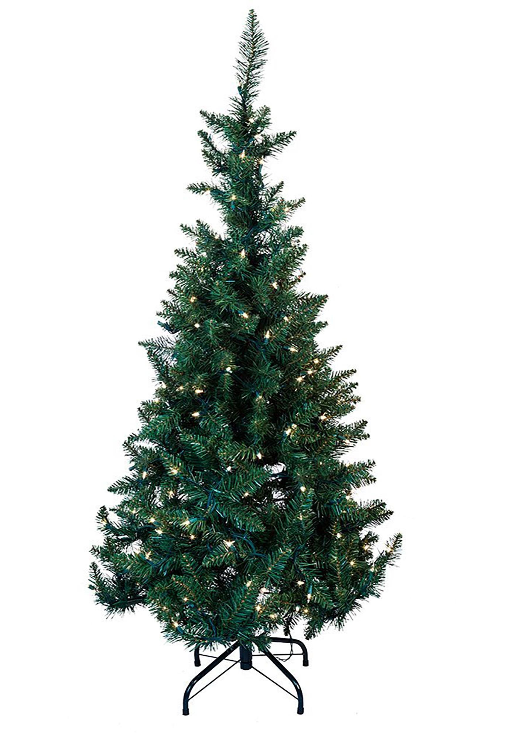 45 pre lit led green pine tree