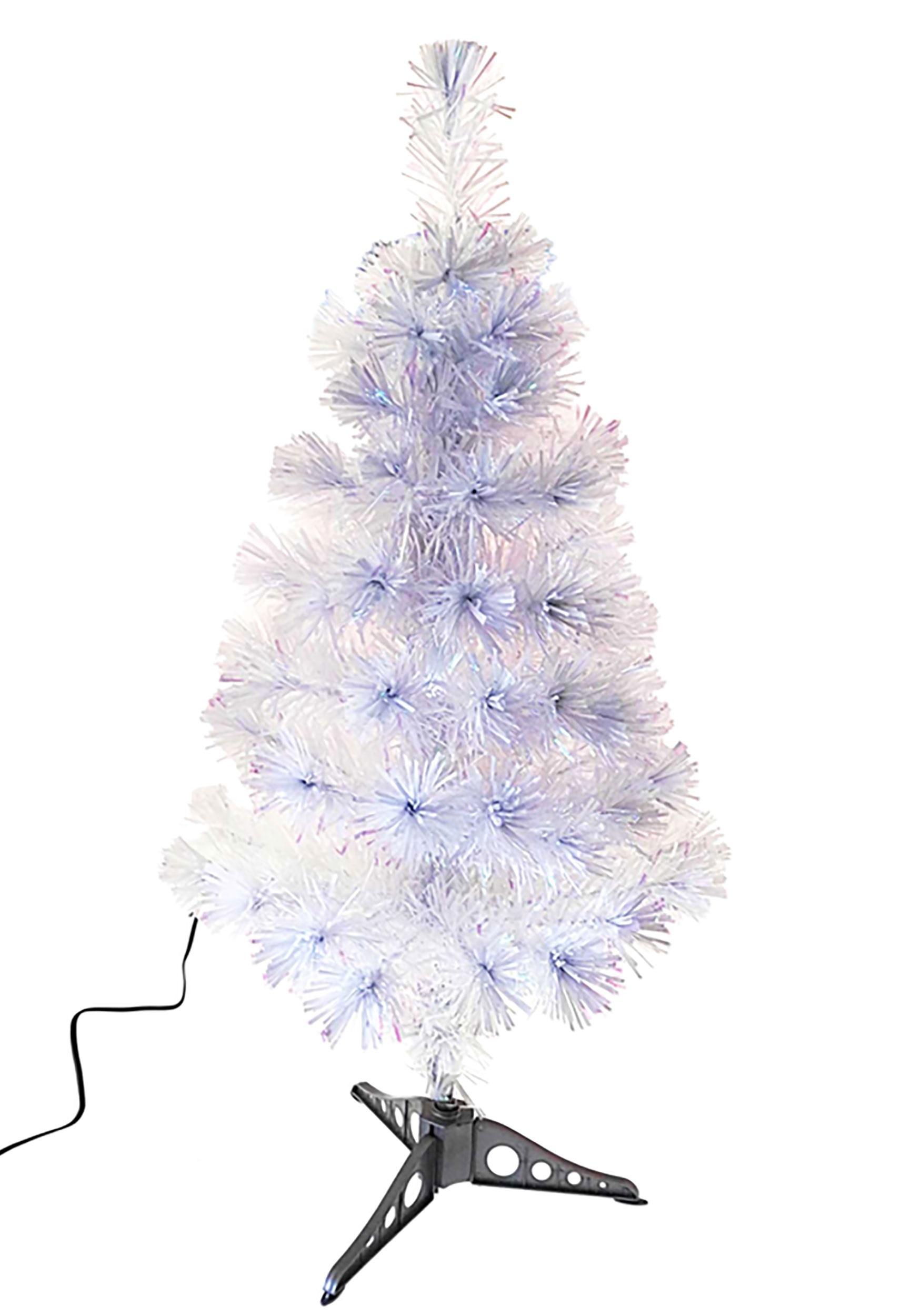 36 fiberoptic white multicolor led tree