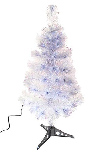 "36"" Fiberoptic White Multicolor LED Tree"