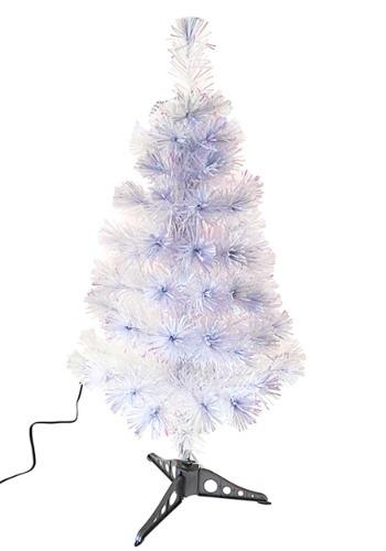 "36"" Fiberoptic White Multicolor LED Tree"