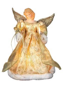 "12"" Gold Dress Angel Tree Topper"
