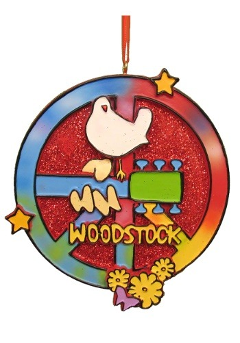 "4"" Woodstock Glass Bus Ornament"