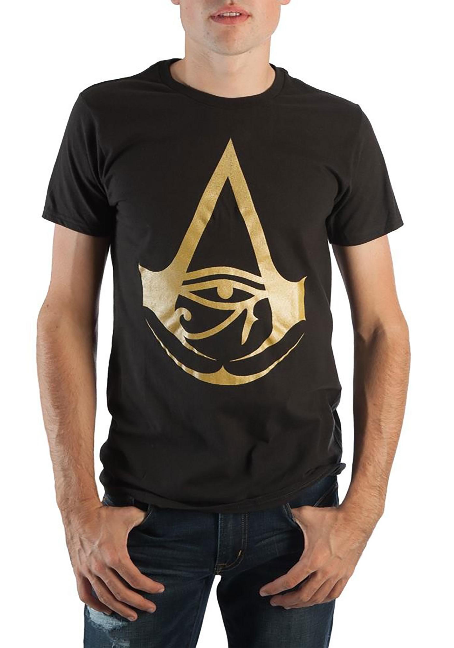 Assassins Creed Origins Foil Logo Black Tee for Men