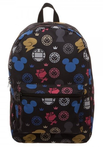 Kingdom Hearts Symbols All Over Print Backpack