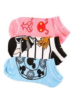 Kingdom Hearts 3 Pack Juniors Ankle Socks