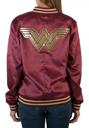 Wonder Woman Logo Bomber Jacket
