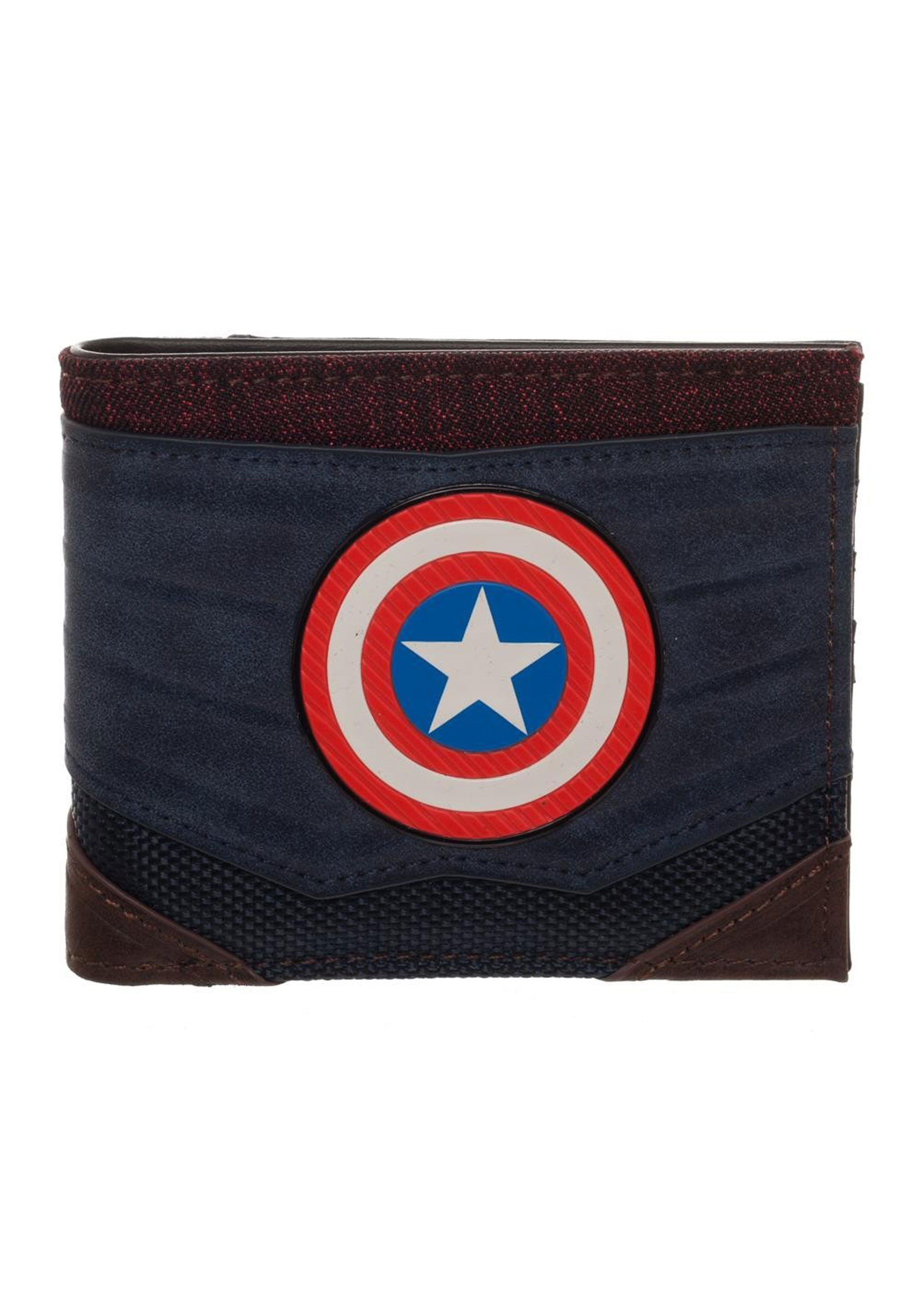 Captain America Chrome Weld Patch Bi-fold Wallet BWMW65Z0MVU00PP00