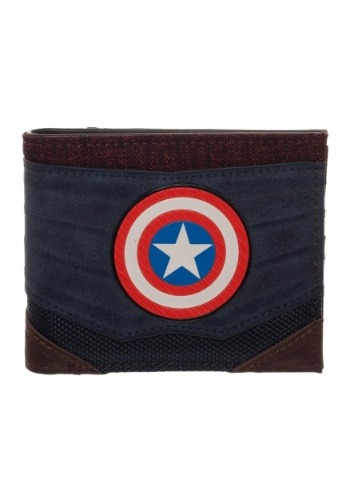 Captain America Chrome Weld Patch Bi-fold Wallet