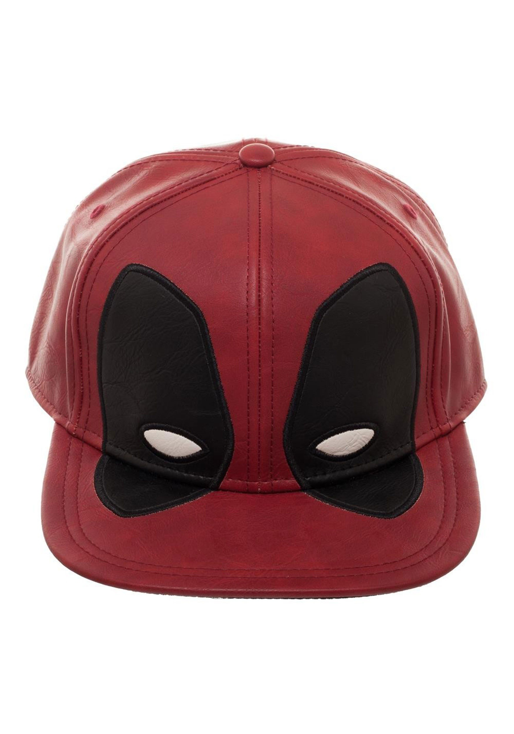 13a289fce154d Deadpool Big Face Distressed PU Snapback Hat