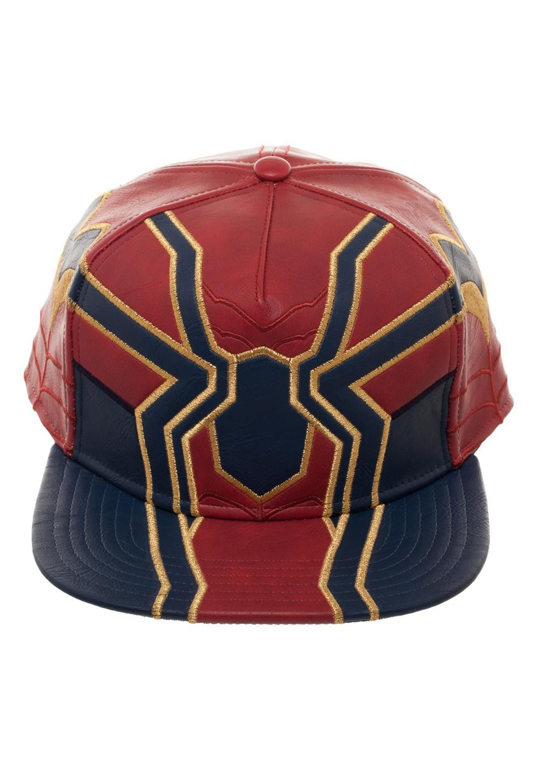7aba36df Avengers Infinity War Iron Spider Suit Up PU Snapback Cap