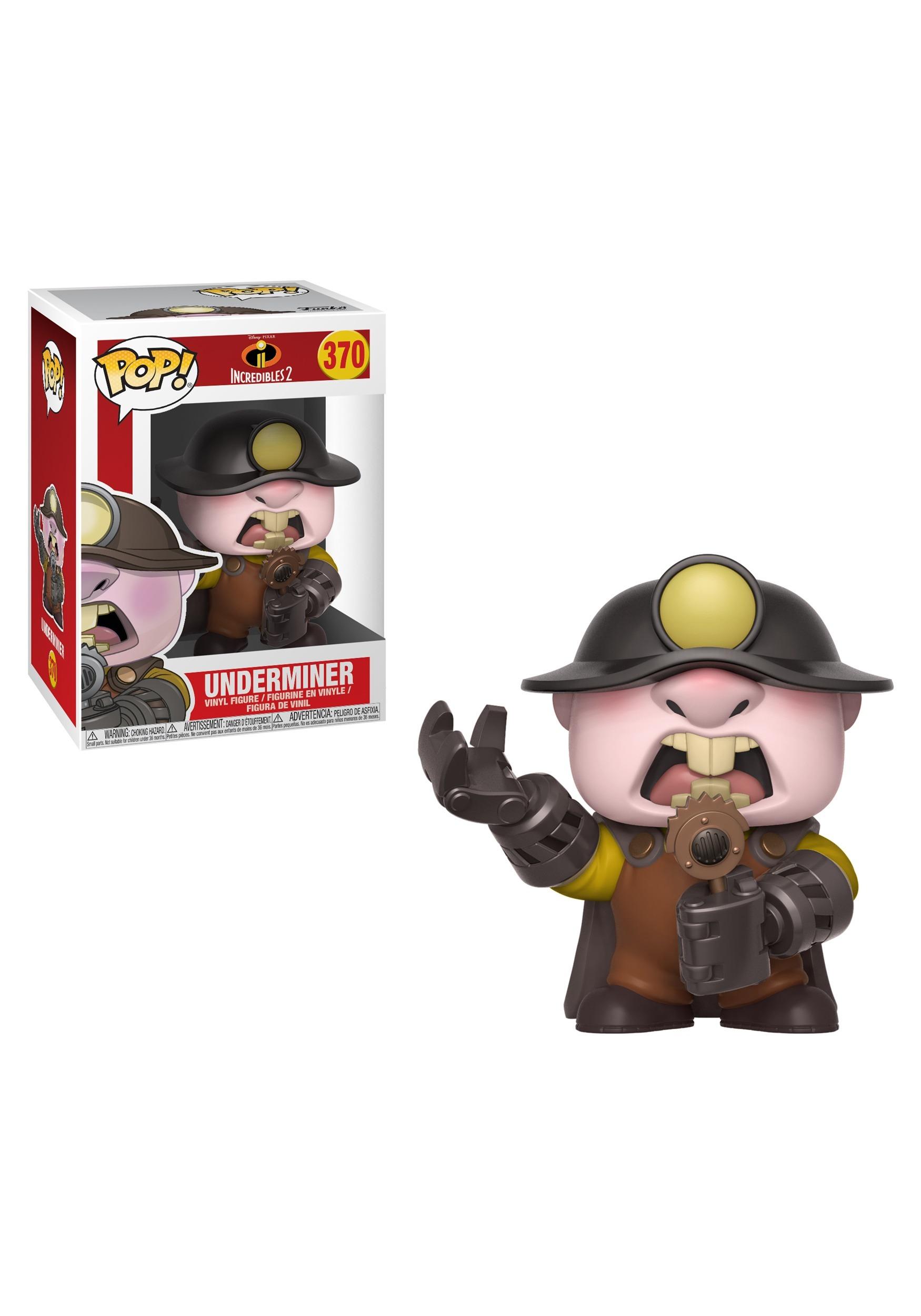 Pop Disney Underminer Figure From Incredibles 2