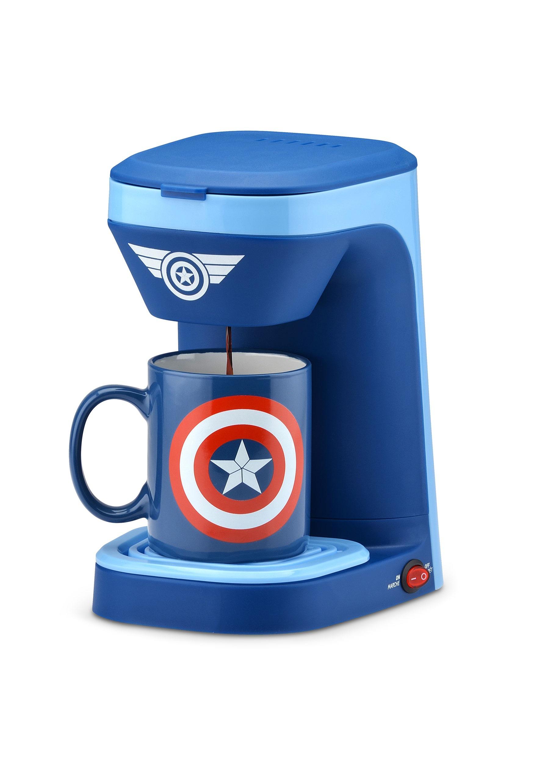 Captain America Single Cup Coffee Maker SLBMVA-123CN