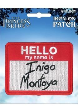 The Princess Bride Inigo Montoya Iron-On Patch