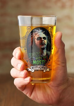 Beetlejuice Ghost with the Most 16 oz Pint Glass Upd