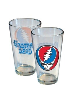 Grateful Dead Stealie 16 oz Pint Glass
