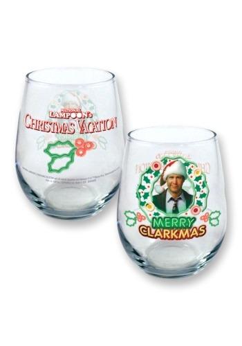 Christmas Vacation Merry Clarkmas 21oz Stemless Wine Glass