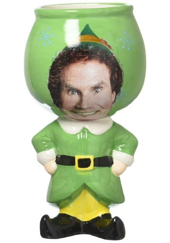 Elf Buddy 12oz Molded Ceramic Goblet
