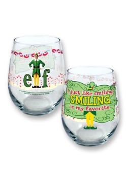 Elf Smiling Is My Favorite 21oz Stemless Wine Glass