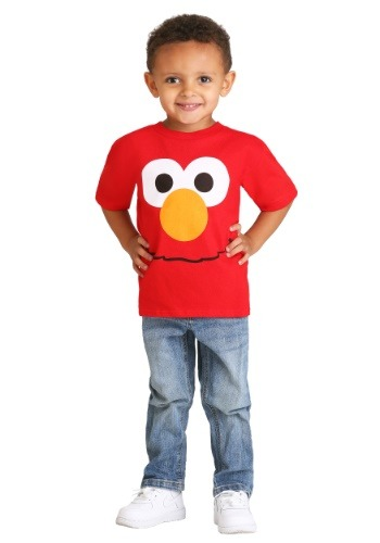 Boy's Toddler Elmo Big Face Costume Tee