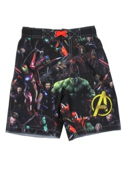 Avengers Infinity War Boys Swim Shorts1
