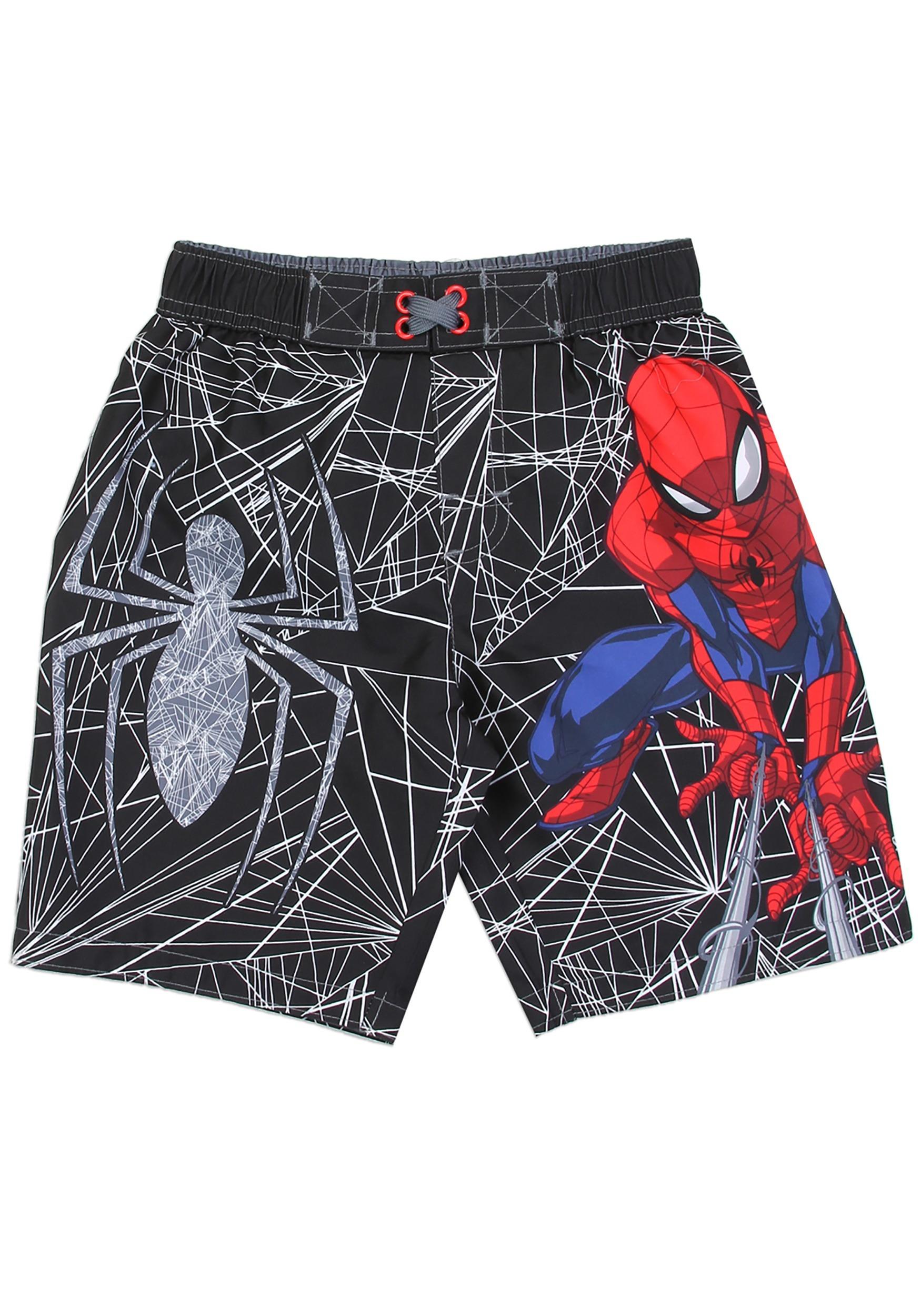 50c43610a5 Spider-Man Boys Swim Shorts1