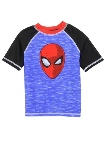 Spider-Man Boys Toddler Swim Rash Guard1