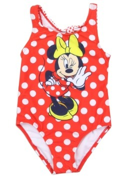 Minnie Mouse Girls Toddler Swimsuit1