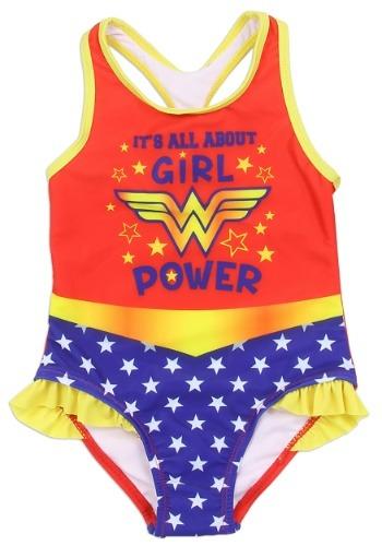Wonder Woman Girls Toddler Swimsuit1