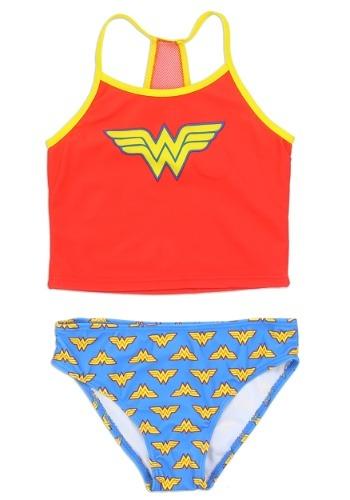 Wonder Woman Girls Swimsuit1