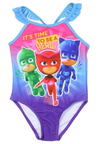 PJ Masks Girls Toddler Swimsuit1