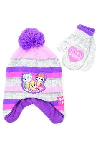 Paw Patrol Girls Winter Hat and Gloves Set