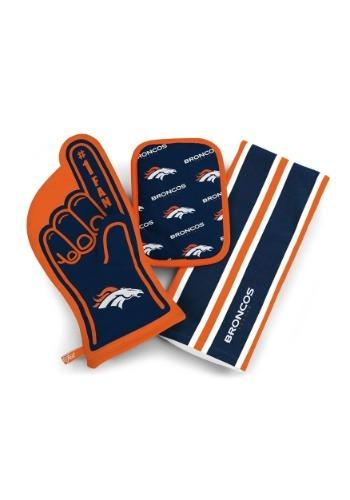 Denver Broncos #1 Oven Mitt 3-Piece Set