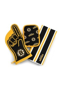 Boston Bruins #1 Oven Mitt 3-Piece Set