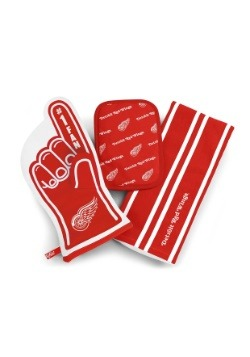 Detroit Red Wings #1 Oven Mitt 3-Piece Set