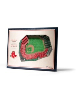 Boston Red Sox 5 Layer Stadiumviews 3D Wall Art