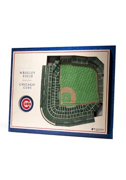 Chicago Cubs 5 Layer StadiumViews 3D Wall Art-update1
