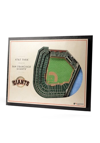 San Francisco Giants 5 Layer Stadiumviews 3D Wall Art